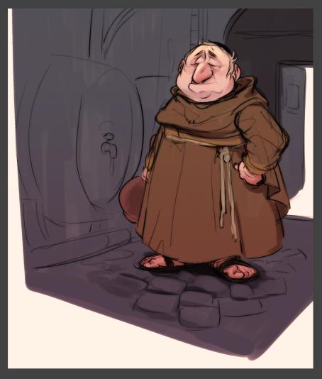 Mönch im Weinkeller